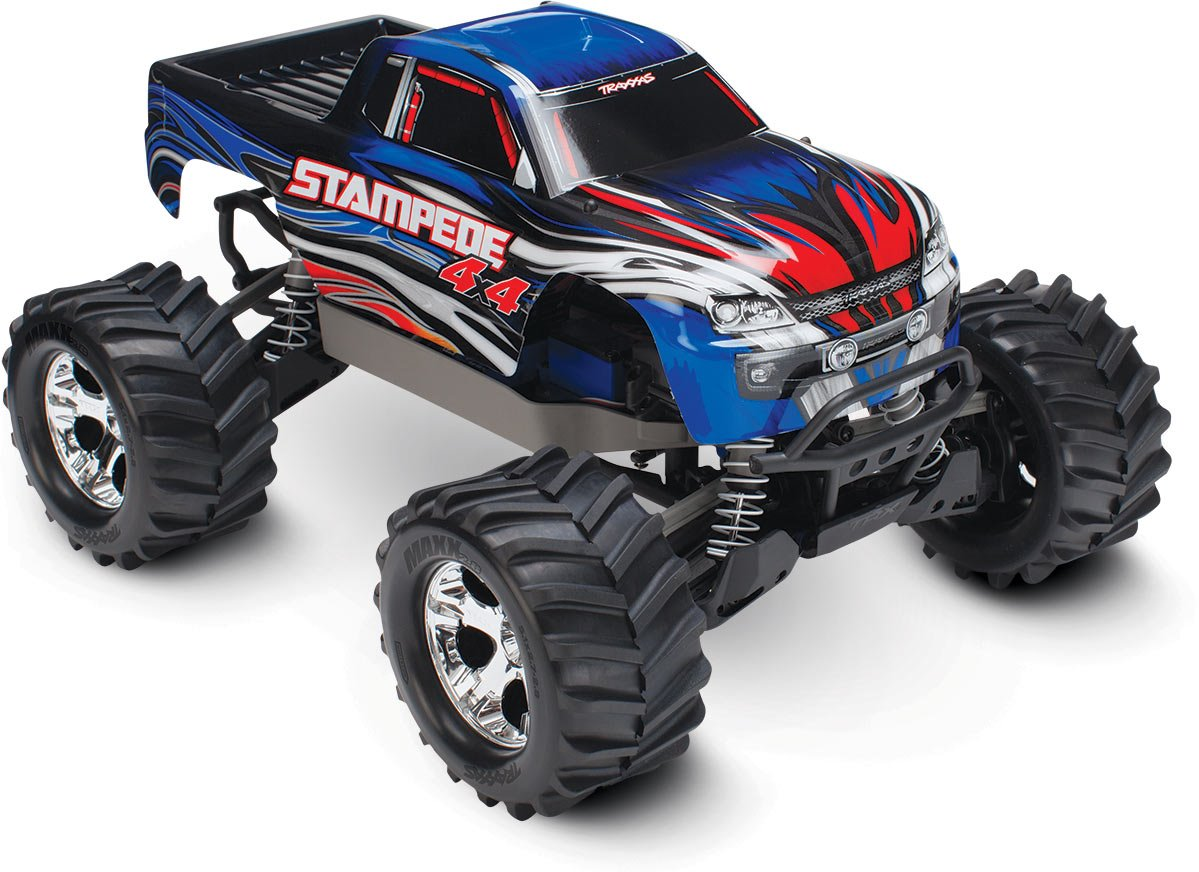 Traxxas Stampede 4X4: 1/10 Brushed Monster Truck - Blue