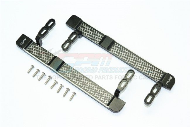 GPM Racing Aluminum Side Steps (Reticulated Pattern) - Black