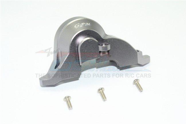 GPM Racing Aluminum Transmission Upper Spur Gear Case Cover - Gun Metal