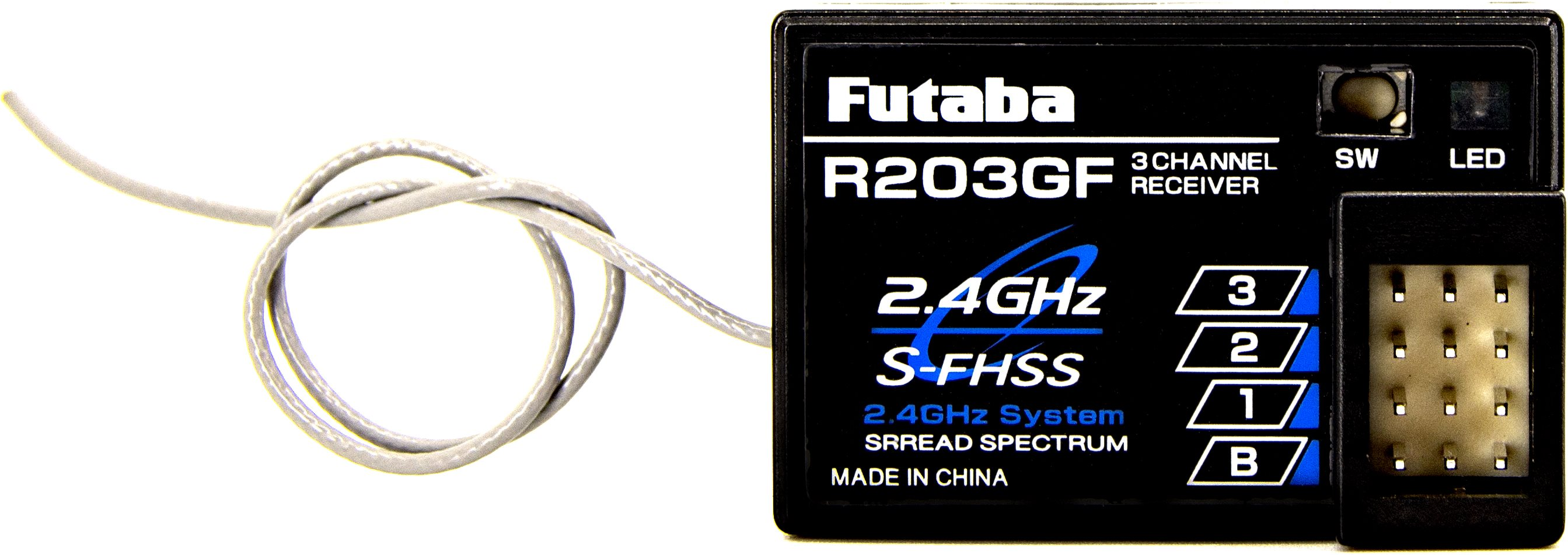 Futaba R203gf 2.4Ghz S-Fhss 3-Channel Receiver
