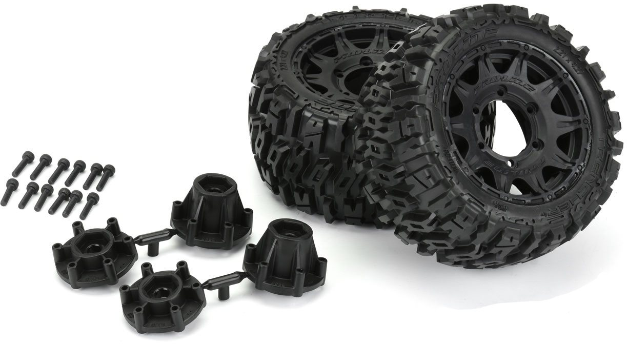 """Proline Trencher Lp 2.8\"""" All Terrain Tires Mounted On Raid Black 6X30 Re"""
