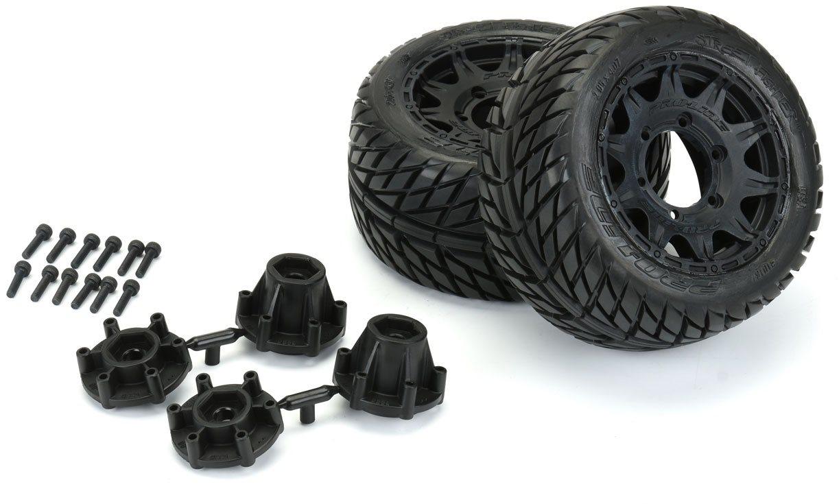 "Proline Street Fighter Lp 2.8\"" Street Tires Mounted On Raid Black 6X30 R"