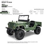 Military Sawback 4 Ls Rtr Off- Road Vehicle, 1/10Th Scale, W/ A
