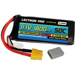 Lectron Pro 11.1V 1800mAh 50C Lipo Battery with XT60 Connector +
