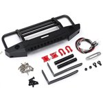 Team Raffee Co. Metal Front Bumper with Light & Towing Hooks  for Traxxas TR