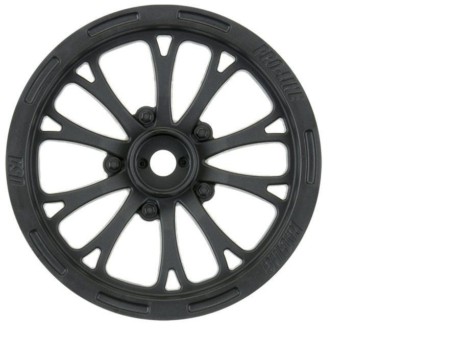 """Proline Pomona Drag Spec 2.2\"""" Black Front Wheels (2) For Slash 2Wd (Usin"""