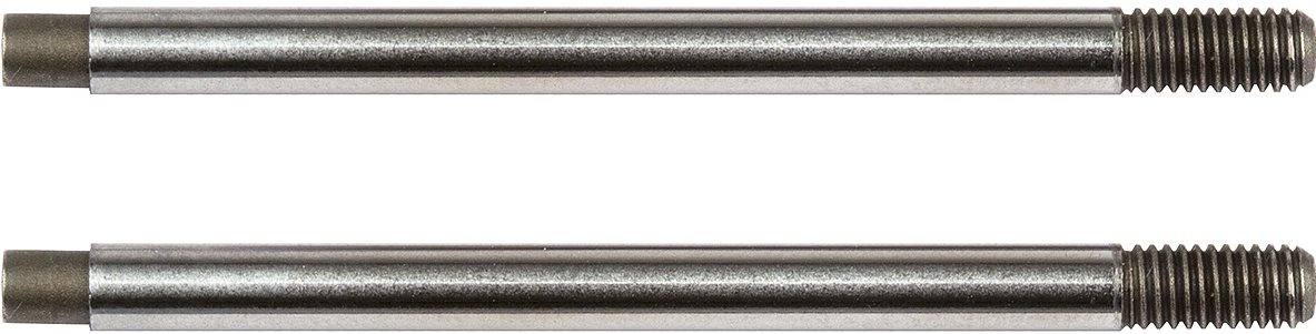 Associated Factory Team V2 Chrome Shock Shafts, For B74, 3X24