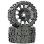 Power Hobby Raptor Belted Monster Truck Wheels/Tires (Pr.)-Sport Medium Comp
