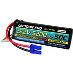 Lectron Pro 22.2V 5200mAh 50C Lipo Battery with EC5