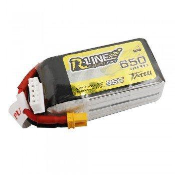 Gens Ace Tattu R-Line 650mAh 14.8V 95C 4S1P Lipo Battery Pack with XT30 P