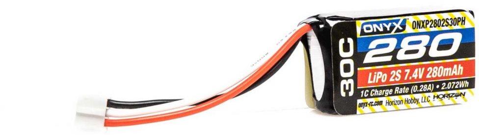 Onyx 7.4V 280mAh 30C 2S LiPo Battery, PH Conn