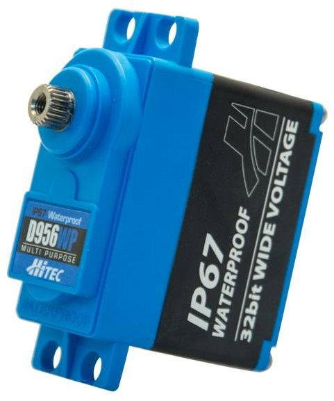 Hitec D956wp High Torque, Waterproof, Steel Gear Servo, 0.12Sec/405Oz