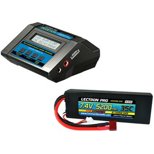 Common Sense RC Power Pack #02 - ACDC-10A Charger + 1 x 7.4V 5200mah 35C w/ T-Pl