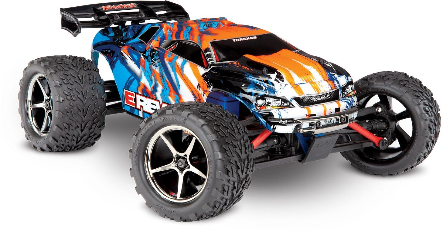 Traxxas E-REVO: 1/16-SCALE 4WD RTR - Orange