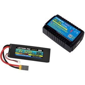 Common Sense RC Power Pack #28 - AC-3A Charger + 1 x 7.4V 5200mah 35C w/ XT60 +