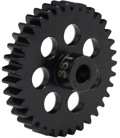 Hot Racing 35 Tooth Steel Mod 1 Pinion Gear, 5Mm