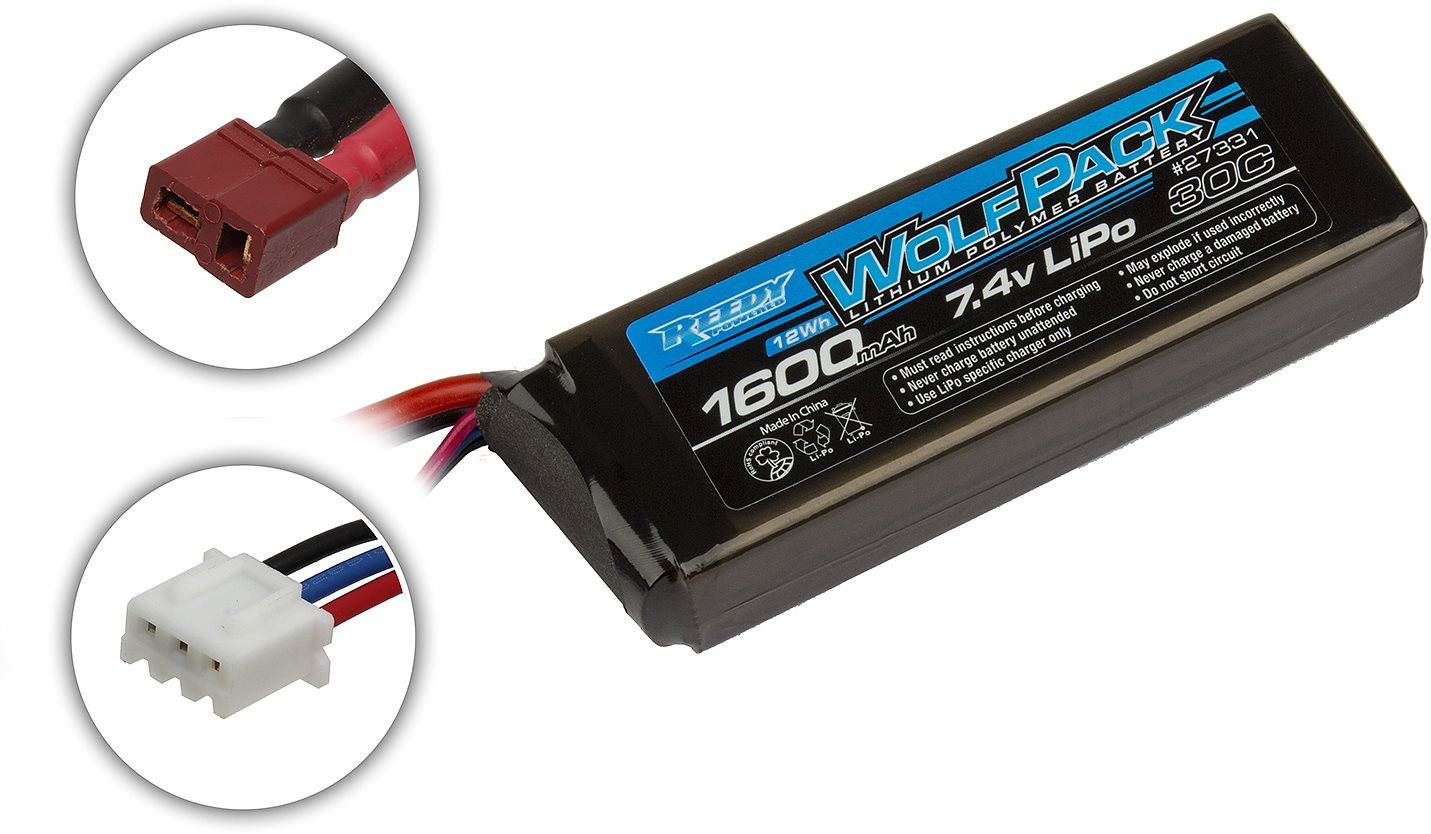 Associated Reedy Wolfpack Lipo 1600Mah 30C 7.4V Battery Pack