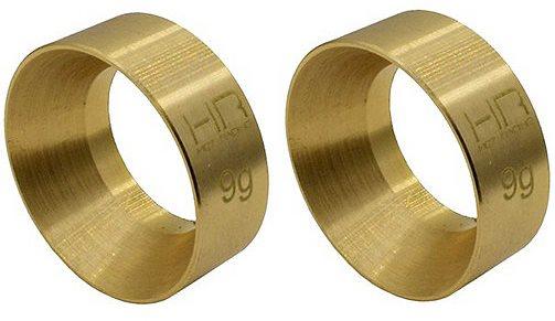 Hot Racing 9g Brass KMC Machete Wheel Weights: SCX24