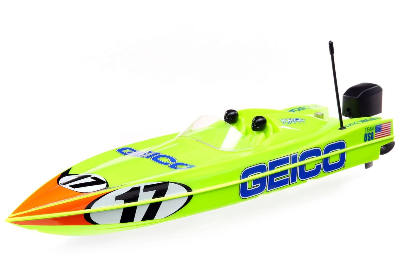 "Pro Boat 17"" Power Boat Racer Deep-V RTR, Miss GEICO"