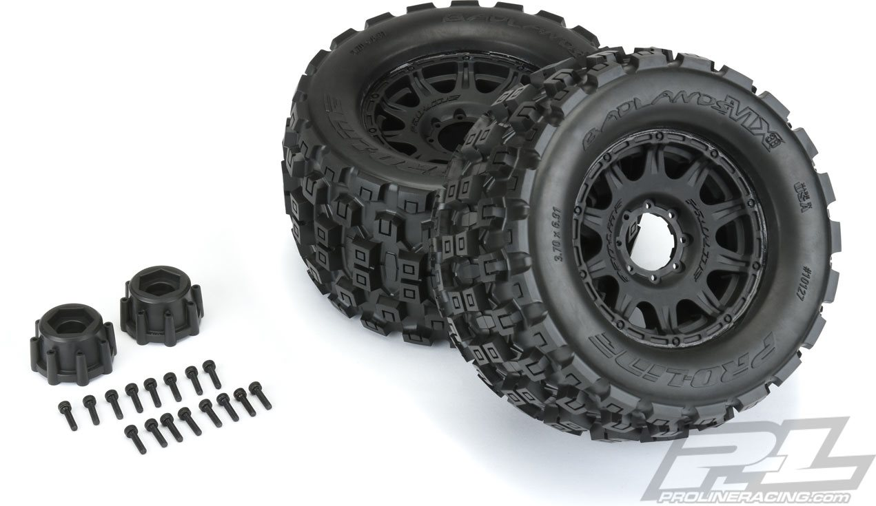 "Proline Badlands Mx38 3.8\"" All Terrain Tires, Mounted On Raid Black, For"