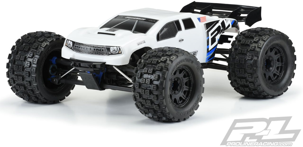 Proline Pre-Cut Brute Bash Armor (White) Body, For Traxxas E-Revo 2.0