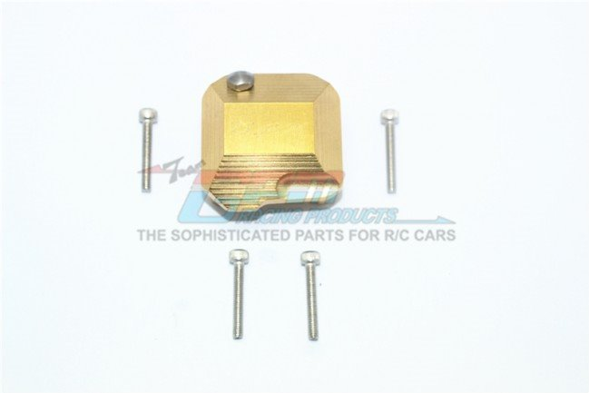 GPM Racing SCX10 II Brass Front/Rear Gearbox Cover -5Pc Set