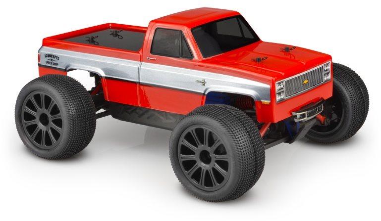 J Concepts 1982 Gmc K10 Traxxas 1/16Th E-Revo Clear Body