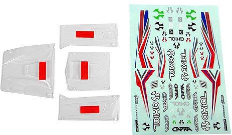 Axial Body Panel Set, Clear: Capra 1.9 UTB