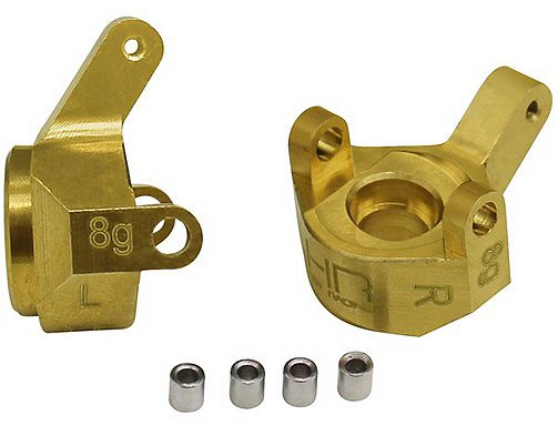 Hot Racing Brass Front Steering Knuckle SCX24