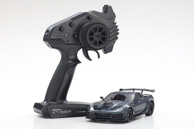 Kyosho Mini-Z Mr-03 Rwd Corvette Zr1 Readyset, Gray Metallic W/Led Ligh