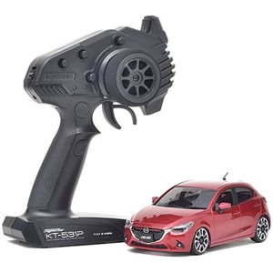 Kyosho Mini-Z Fwd Mazda 2 Ma-03F Readyset, Red Premium Metallic Rs