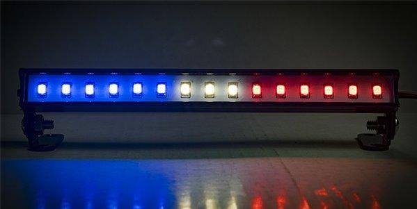 """Common Sense RC LED Light Bar - 5.6\"""" - Police Lights (Red, White, and Blue Light"""