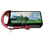 Gens Ace Adventure High Voltage 3600mAh 3S1P 11.4V 50C Lipo Battery with