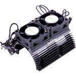 Heat Sink W/ Twin Tornado High Speed Fans, For 1/8 Motors, Blac