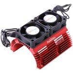 Heat Sink W/ Twin Tornado High Speed Fans, For 1/8 Motors, Red