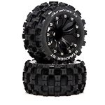 DuraTrax MCROSS ST 2.8 2WD Mounted R C2 Tires, .5 Offset Black (2)