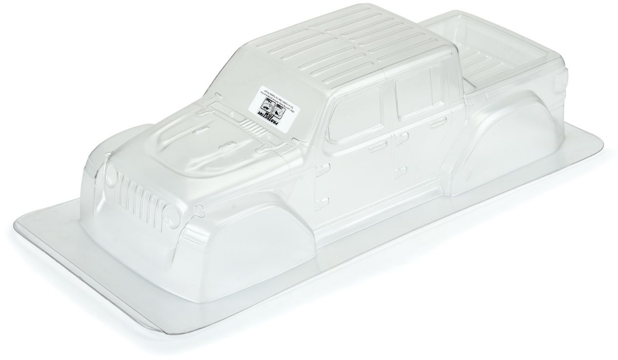 "Proline 2020 Jeep Gladiator Clear Body, For 12.3"" Wheelbase Scale Crawle"