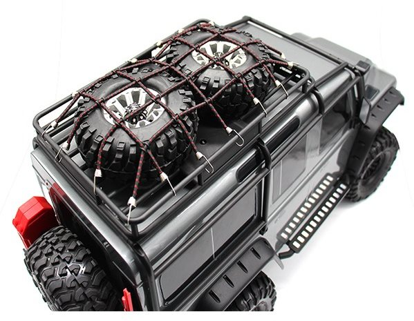 Hot Racing Rc 1/10 Scale Cargo Net Kit, Black & Red