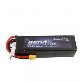 Gens Ace 14.8V 50C 4S 8500mAh Lipo Battery Pack with XT60 Plug for Xmaxx