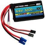 Lectron Pro 6.6V 3200mAh LiFe Receiver Battery with EC3 Connecto