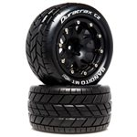 Bandito MT Belted 2.8 2WD Mounted Rear Tires, .5 Offset, Black (