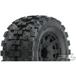 "Proline Badlands Mx38 Hp 3.8"" All Terrain Belted Tires, Mounted On Raid"