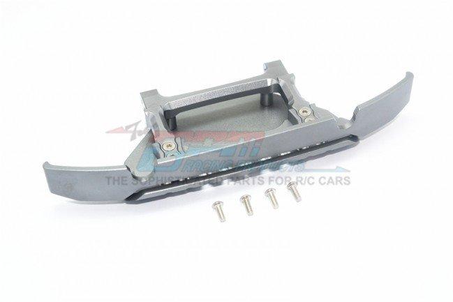 GPM Racing Aluminum Front Bumper+Skid Plate For Trx-4 Mercedes-Benz - Grey