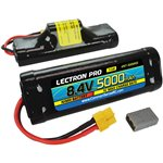 Common Sense RC Lectron Pro NiMH 8.4V (7-cell) 5000mAh Hump Pack with XT60 Conne