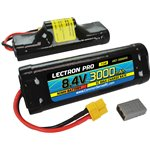 Lectron Pro NiMH 8.4V (7-cell) 3000mAh Hump Pack with XT60 + CSR