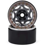 "SSD RC 1.9"" Champion Beadlock Wheels (Grey/Silver) (2)"