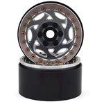 "SSD RC 1.9"" Champion Beadlock Wheels (Grey/Silver) (2)"
