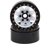SSD RC 1.9 Steel 8 Spoke Beadlock Wheels (White) (2)