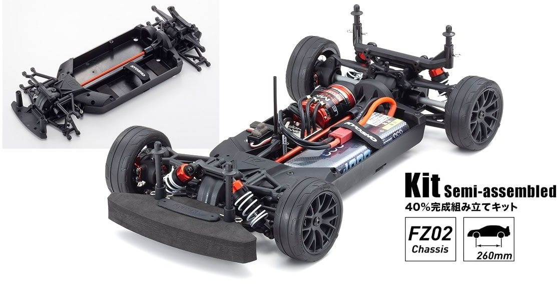 Kyosho 1/10 Fazer Mk2 Chassis Kit With 2020 Mercedes Amg Gt3 Clear Body