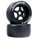 ARRMA 1/7 dBoots Hoons 53/107 2.9 White Belted 5-Spoke Mounted Wheels,